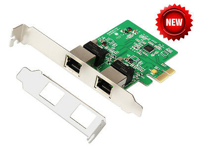 IOCrest Dual Gigabit Ethernet NIC Network Card RTL8111 Chipset (w/ Low Profile)