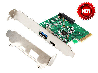 IOCrest PCI Express to USB3.1 Type-A + Type-C Host Controller PCIe Card