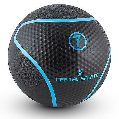 Top Crosstraining Medizinball 7 Kg Schwarz Fitnessball Ball Gymnastikball