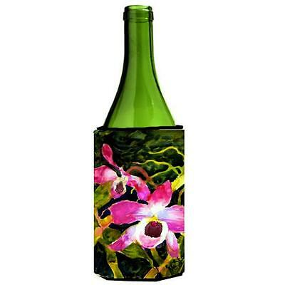 Carolines Treasures MM6048LITERK Flower Orchid Wine bottle sleeve Hugger