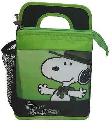 Schulz Peanuts Snoopy Junior Park Ranger School Insulated Lunch Bag Tote Box