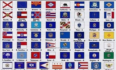 Lot SET-OF-50-3X5-STATE-FLAGS-UNITED-STATES-COMPLETE-ALL-US-STATES-3X5-FT-