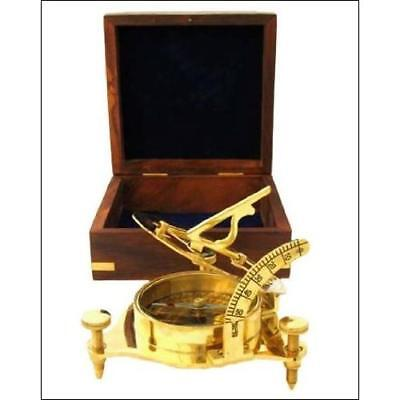 Redskytrader Real Simple A Handtooled Handcrafted Brass Sundial Compass New
