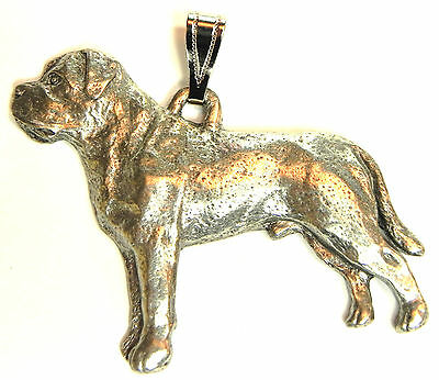 Mastiff Pendant Dog Harris Fine Pewter Made in USA jewelry