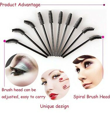 10PCS Professional Oblique Design Rotate Eyebrow Brush Cosmetic Brow Brush IL