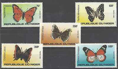 Timbres Papillons Niger 625/9 ** (7906)