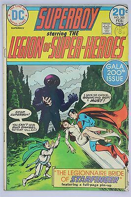 DC Comics Superboy #200 1974 Vintage VG Bronze Age Nick Cardy Cary Bates
