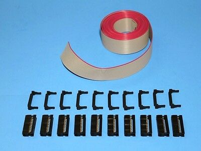 IDC Cable Ribbon Cable Connector Kit 12 Ft 20-Pin (2x10) , Fast ship from USA