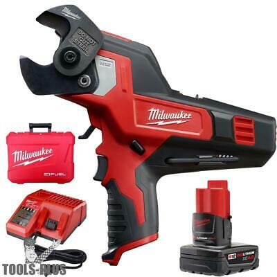 Milwaukee M12 600 MCM Cable Cutter KIT 2472-21XC New