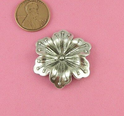 VINTAGE DESIGN ANTIQUE SILVER DAPT FLOWER - 1 PC(s)