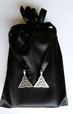 Trinity Charm Tarot Bag Black