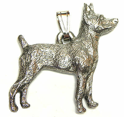 Rat Terrier Pendant Dog Harris Fine Pewter Made in USA jewelry