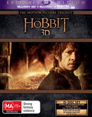The Hobbit Trilogy Extended 3D + Blu-ray Region B Brand New!!!