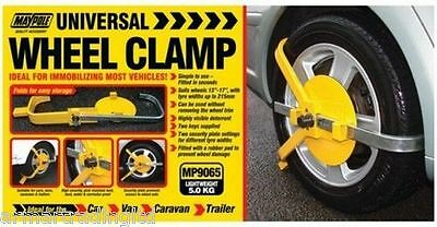 "Wheel Clamp 13"" to 17"" Secure Anti Theft Maypole 9065"