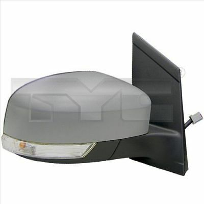 Exterior mirror left primed FORD FOCUS II ab 02.2008 electric with indicator