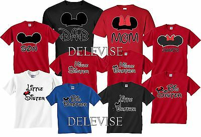 Mom And Dad Mickey & Minnie FAMILY couple matching funny cute T-Shirts S-4XL