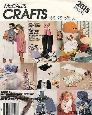 VTG McCall's Gift Package Pattern 2815 UNCUT