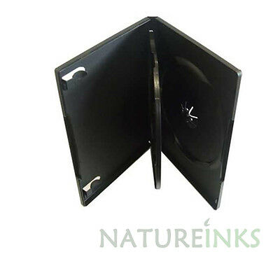 10 x 3 Way Quad CD DVD Case Cases Flip Tray clear outer cover 14mm spine
