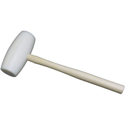 Round Plastic Head Meat Mallet with Wooden Handle