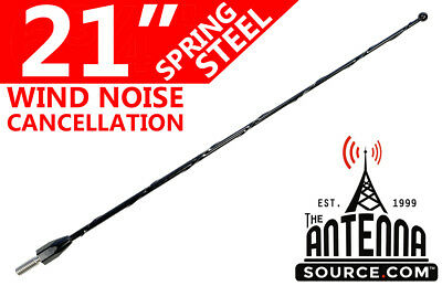 """21"""" Black Spring Stainless AM/FM Antenna Mast Fits: 2009-2017 Ford F150"""