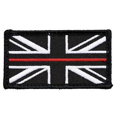 FIRE SERVICE THIN RED LINE UNION JACK PATCH BADGE VELCRO® BACKED & SOFT PIECE sm