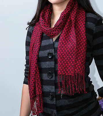 Red and black scarfs