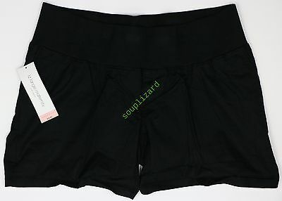 NEW Maternity Shorts Black Women's Cotton Twill Liz Lange NWT Size Sz M 300258