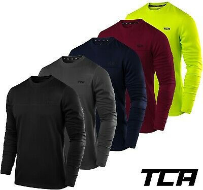 Men's TCA Element Long Sleeve Lightweight Breathable Crew Neck Running Top