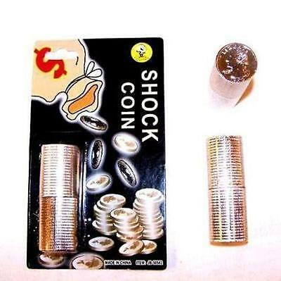 SHOCKING COIN STACK shock funny gag items practical jokes gags pranks NEW tricks