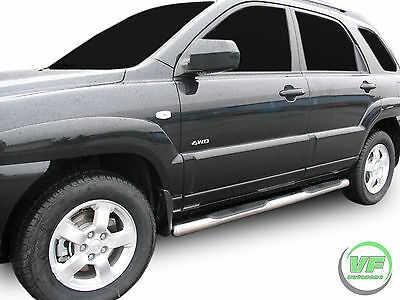 Hyundai Tucson 2004-2010 Side bars CHROME stainless steel side steps PAIR