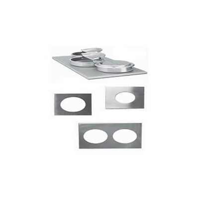 Nemco Adapter Plate for 4/3-Size Warmer Size 3 Holes, Each for 7-Qt. Inset