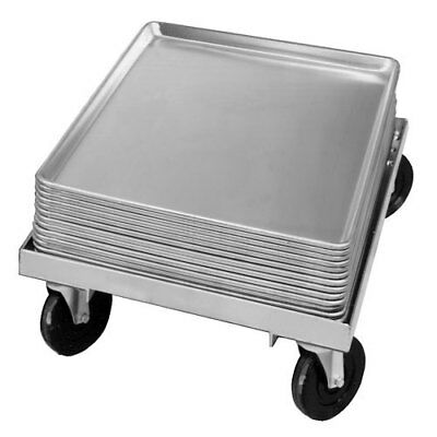 "Channel Bun Pan Dolly, Aluminum, 7-1/2"" x 18-3/4"" x 26-1/2"""