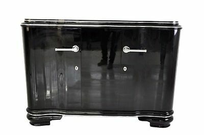 French Art Deco Sideboard with Gull-wing doors