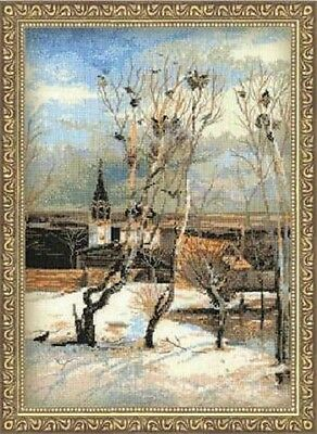 """Counted Cross Stitch Kit RIOLIS - """"The Rooks Have Come Back"""""""
