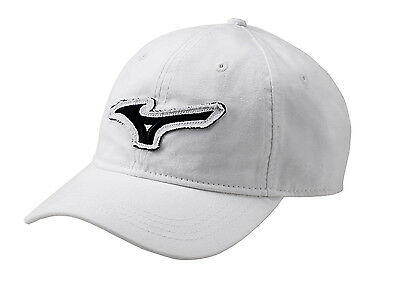 NEW Mizuno Canvas RB White Mid Fit Adjustable Hat/Cap