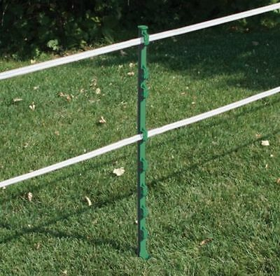 10x GREEN 3FT POSTS - RUTLAND Electric Fencing Fence Stakes Poles With Spike