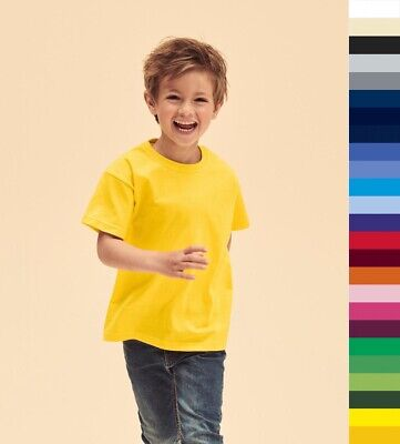 10er Pack Kinder T-Shirts FRUIT OF THE LOOM Kids Valueweight Tee 61-033-0 * NEU