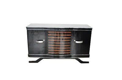 Art Deco Sideboard with striped Walnut veneer