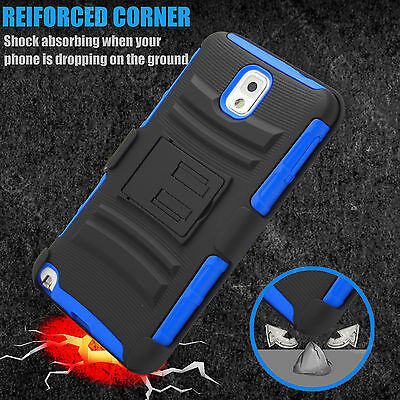 For Samsung Galaxy Note 3 N9000 Armor Shockproof Stand Hard Case Cover Holster