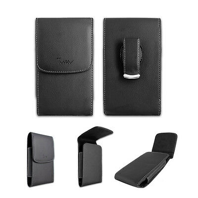 Black Leather Case Pouch Holster with Belt Clip for Verizon LG Exalt 2 II VN370