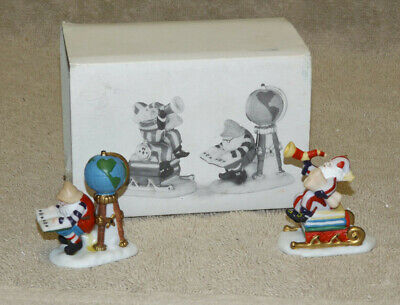 Dept 56 Heritage Village Collection Charting Santa's Course set of 2