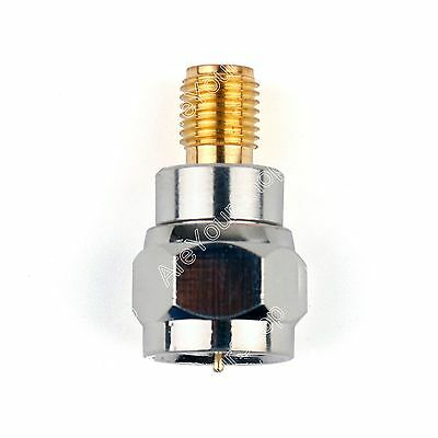 1Stk Adapter F TV Stecker Plug Male To SMA Female Buchse Jack RF Connector