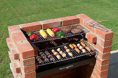 BRICK BBQ KIT  BLACK KNIGHT STAINLESS GRILL, RACK & 7mm GRID BEST QUALITY IN UK