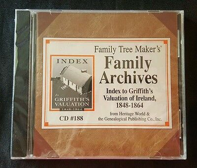 Index To Griffith's Valuation Of Ireland 1848-1864 Family Tree Archives CD 188