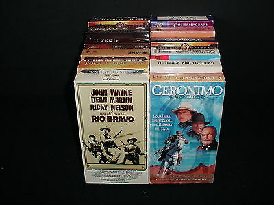 Lot of 12 Westerns Cowboys Video Tape VHS Movies Videos with Boxes