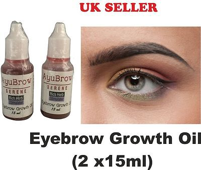 Eyebrow Rapid Growth Oil Thicker Longer Brows Regrow For ThinBrow Natural 15mlx2