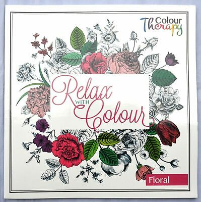 Creative Floral Adult Colouring Book Art Therapy Gift Present Relaxing Calm NEW