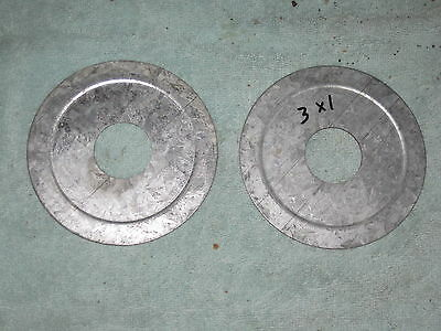 A PAIR (2) 3  to 1 Inch Galvanized Steel Conduit Reducing Washer