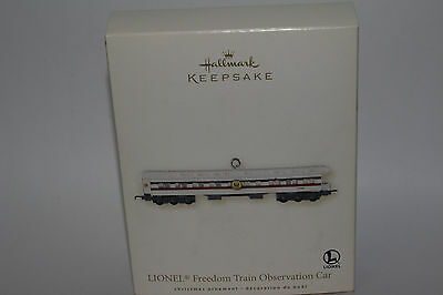 Hallmark Keepsake Ornament, Lionel Freedom Train Observation Car Ornament