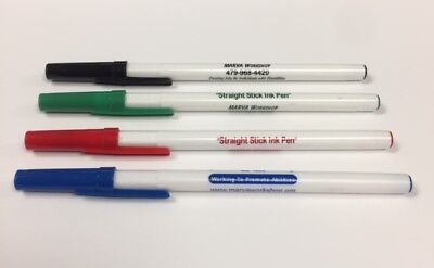 Custom Personalized Stick Pens - 50 (DAVRO) White with Matching Trim & Imprint